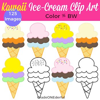 https://www.teacherspayteachers.com/Product/Ice-Cream-Cone-Clip-Art-With-and-Without-Kawaii-Faces-125-Images-4631215