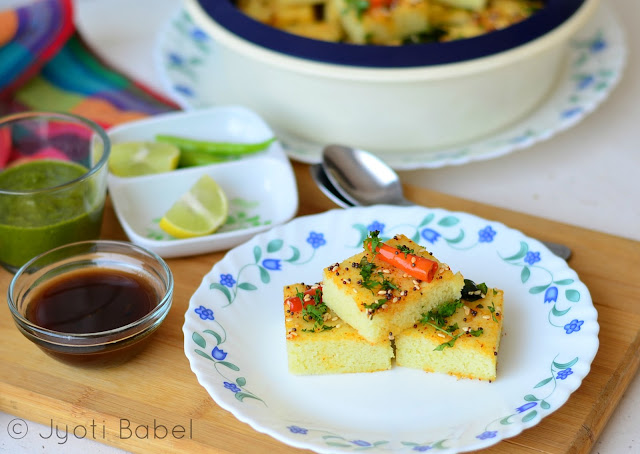 Yellow Moong Dal Dhokla is a Gujarati steamed snack. It is protein packed and is quite healthy. Check out my post for yellow moong dal dhokla recipe.