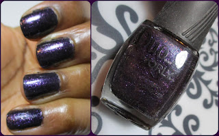 Dark purple polish with shimmer