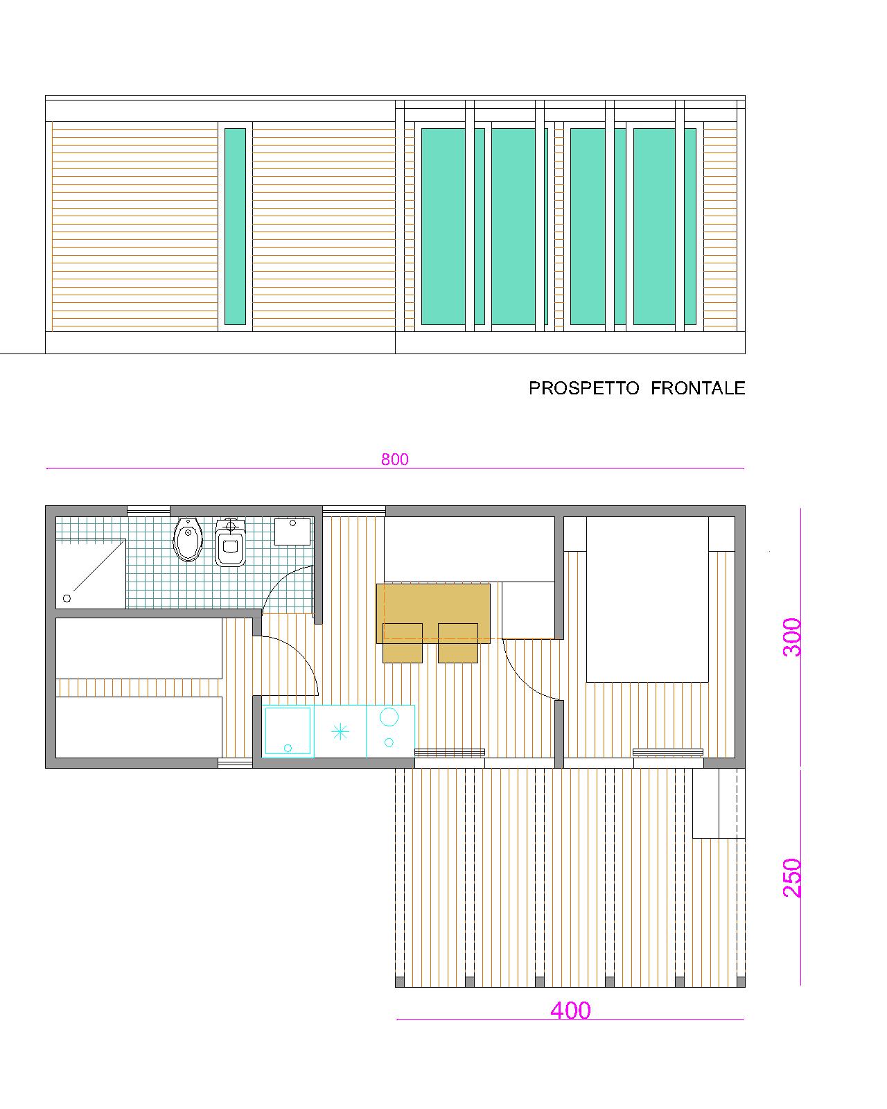 Progetti di case in legno casa mobile ginepro 24 mq for Casa mobile in legno