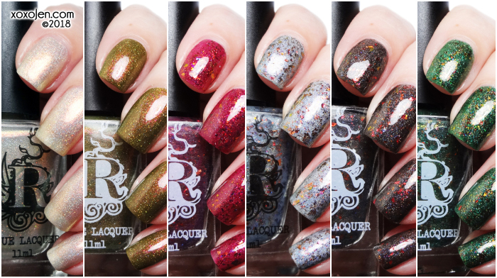 xoxoJen's swatch of Rogue Lacquer Wilds of Arizona pt. 2 and Not so your average Holiday Duo!