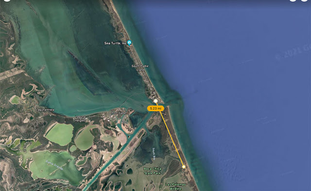 Google Earth views of sites like Port Isabel or South Padre Island (Source: Palmia Observatory)