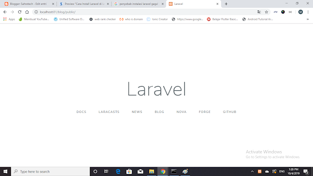 Laravel First Landing