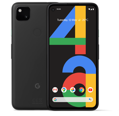 Front and back of Pixel 4a