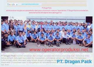 Lowongan kerja PT Dragon Pack 2020