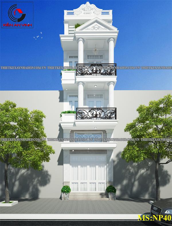 Mẫu thiết kế nhà 2 tầng 1 tum 5x12 bán cổ điển ở nông thôn Thiet-ke-nha-2-tang-1-tum-a