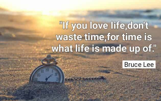 If You Love Lifedont Waste Timefor Time Is What Life Is Made Up Of