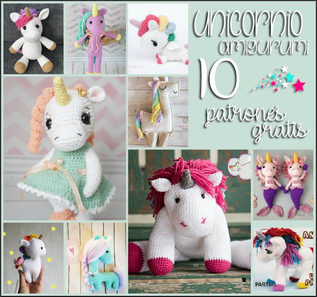 Unicornio Amigurumi: 10 Patrones Gratis - Arte Friki
