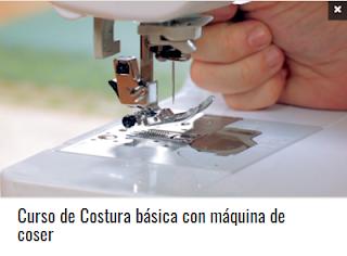 Curso de Costura básica con máquina de coser