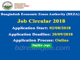 Bangladesh Economic Zones Authority (BEZA) Job Circular 2018
