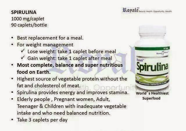 how to take spirulina for weight loss