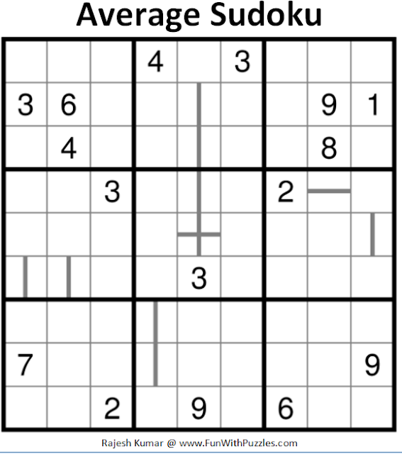 Average Sudoku (Daily Sudoku League #160)