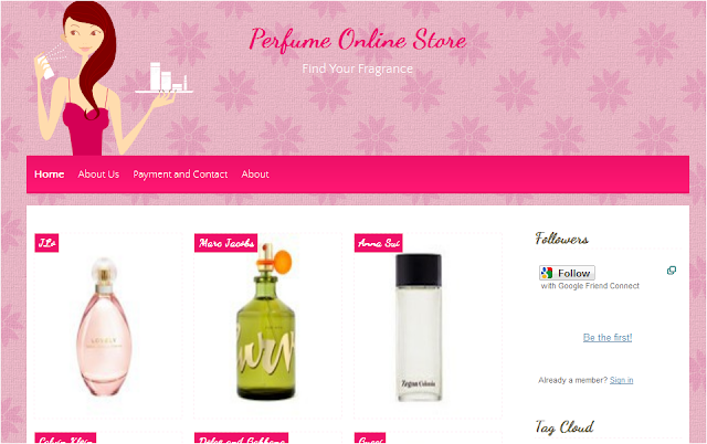 Girly Perfume Blogger Template