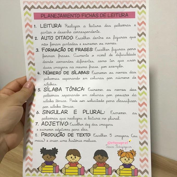 FICHAS DE LEITURA: DICAS PARA PLANEJAMENTO