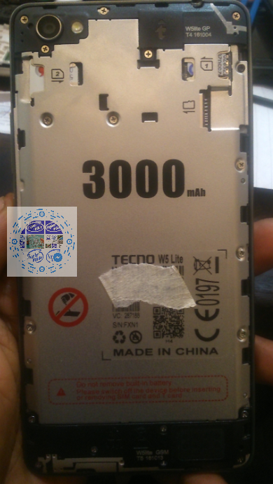 TECNO W5 Lite MT6580 FACTORY FIRMWARE TESTED WITH OUR TEAM