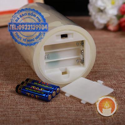 Bộ đèn cầy sáp sử dụng pin ngọn đèn lắc lư