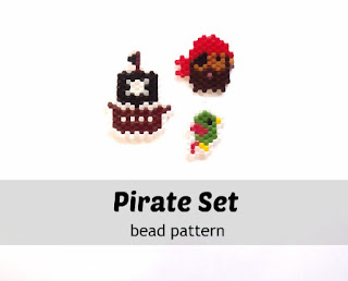 Pirate set bead patterns by Bead Crumbs