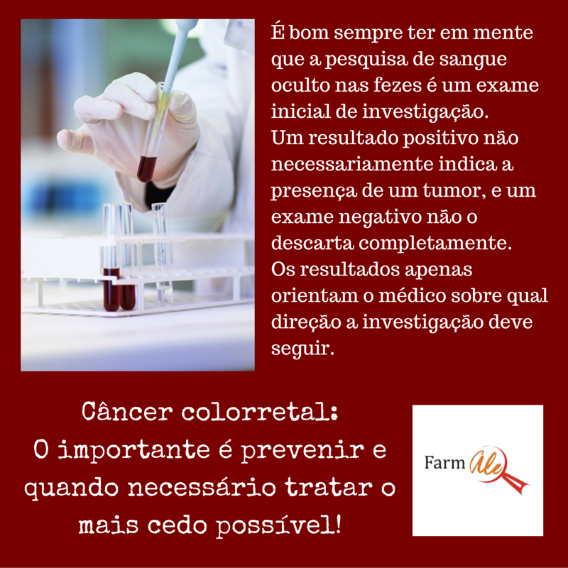 Exame de sangue detecta cancer de intestino