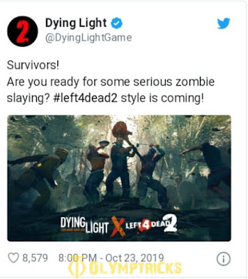 """Surprise of high caliber .. Cooperation between """"Dying Light"""" and """"Left 4 Dead 2""""!"""