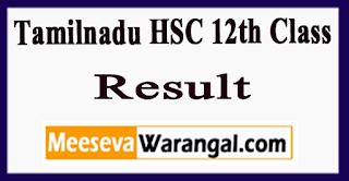 Tamilnadu HSC 12th Class Result 2018
