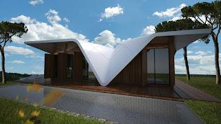 Bentuk Atap Rumah model Kupu kupu