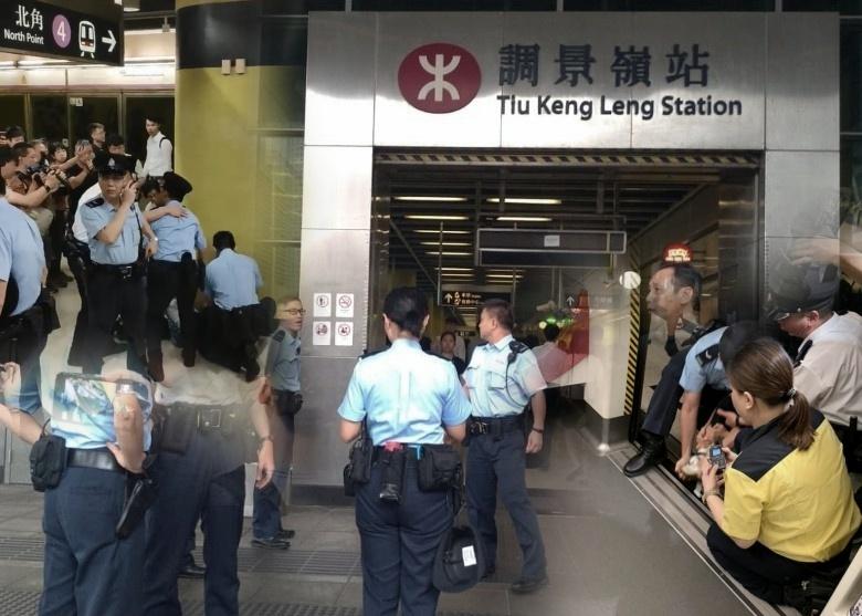 Keributan kecil terjadi di beberapa Stasiun MTR di Hong Kong pagi ini