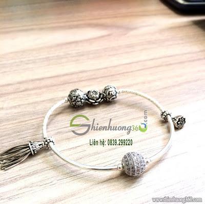 Vòng đeo tay phong thủy mix bạc Thái 925