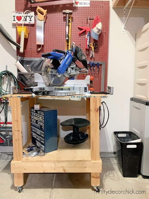 DIY rolling work bench