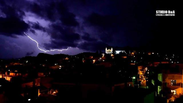 """11.600 κεραυνοί και ρεκόρ βροχής από τον """"Γηρυόνη"""""""