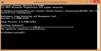 Cara Mudah Mengatasi Gagal Instal Net Framework 3.5 pada Windows 8.1