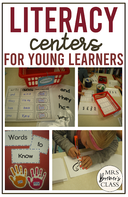 Sight Word literacy centers and word work stations for Kindergarten and First Grade