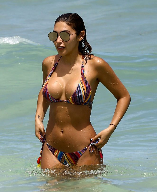Chantel Jeffries bares curves in skimpy bikini on South Beach