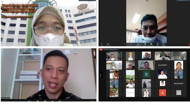 Tingkatkan Kewaspadaan di Masa Pandemi Dirjen EBTKE Gelar Sharing Session Pengenalan Cluster Covid-19