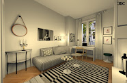 BCC coaching deco Amenagement 3D d'un petit appartement