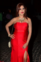 Sejal Jen Shah in Strapless Sleeveless Deep neck Red Gown at 64th Jio Filmfare Awards South ~  Exclusive 003.JPG