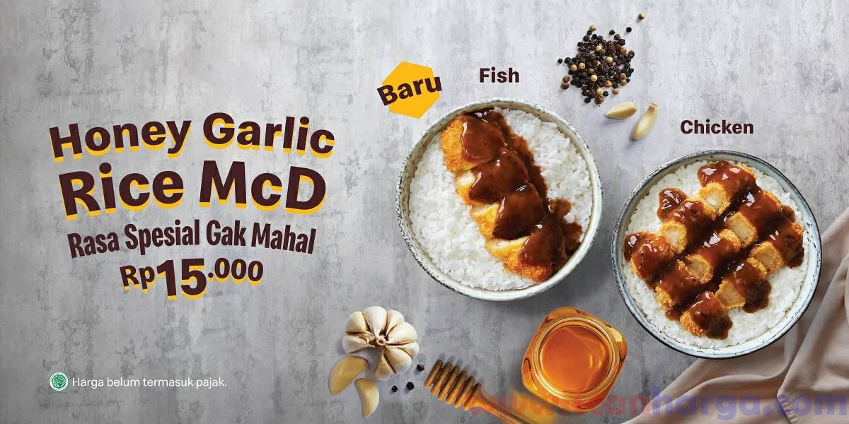 Promo Mcdonalds Honey Garlic Rice McD Hanya Rp 15Rb!