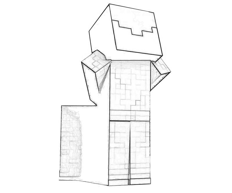 minecraft axe coloring pages - photo #25