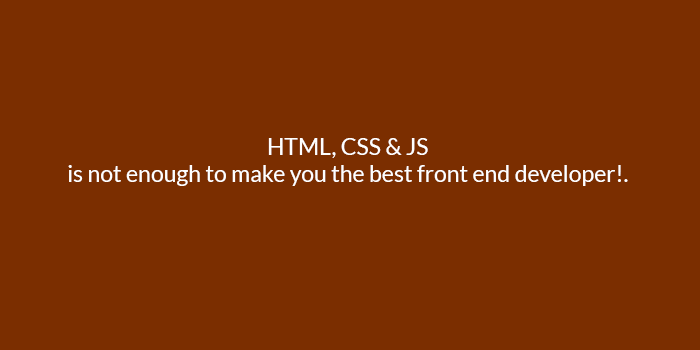 why understanding html, css and JavaScript is not enough to make you the best front end developer?