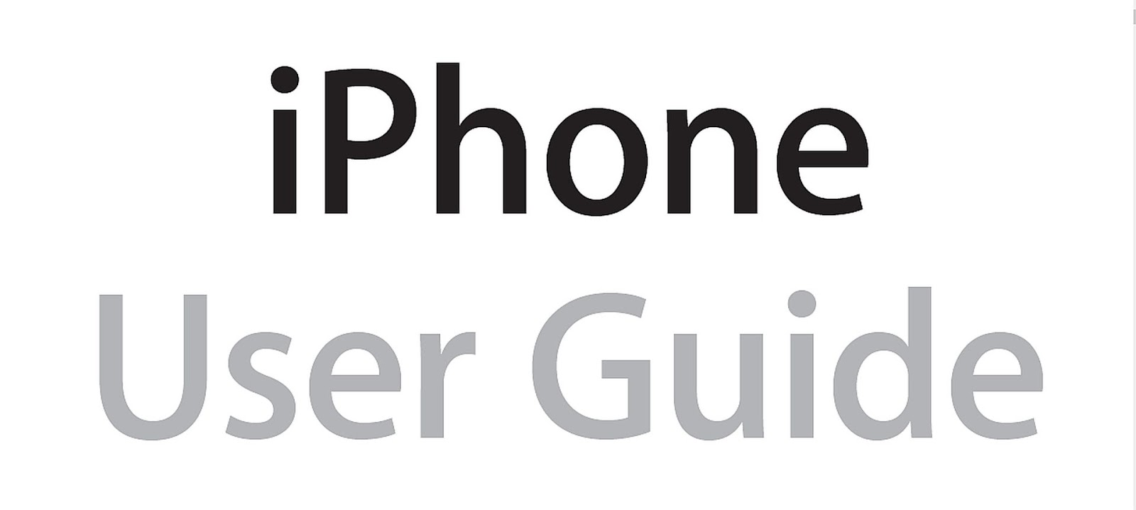 iPhone User Guide Apple Manual Instructions for All iPhone