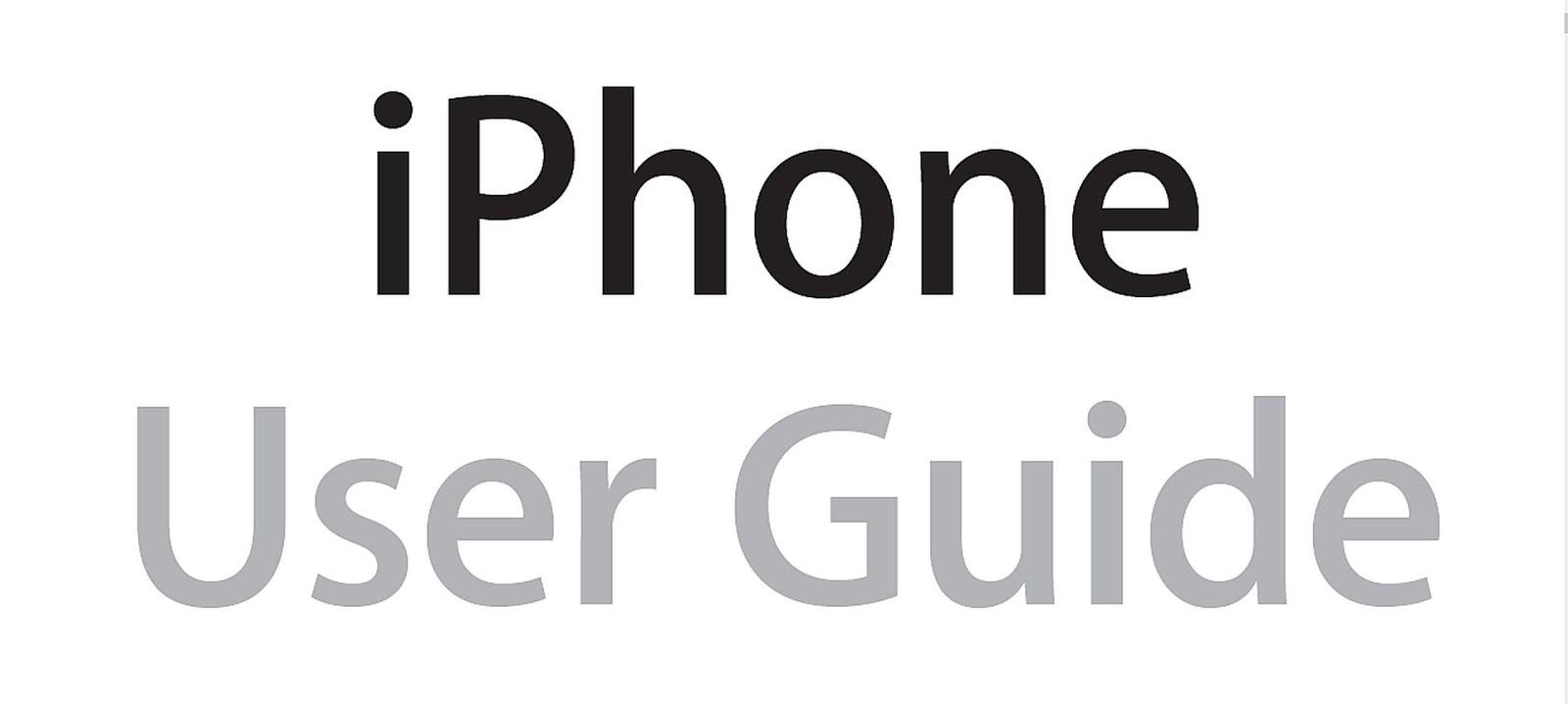 Pdf apple manual iphone user