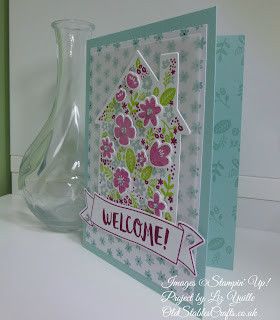 Home Life Welcome Card in shades of blue