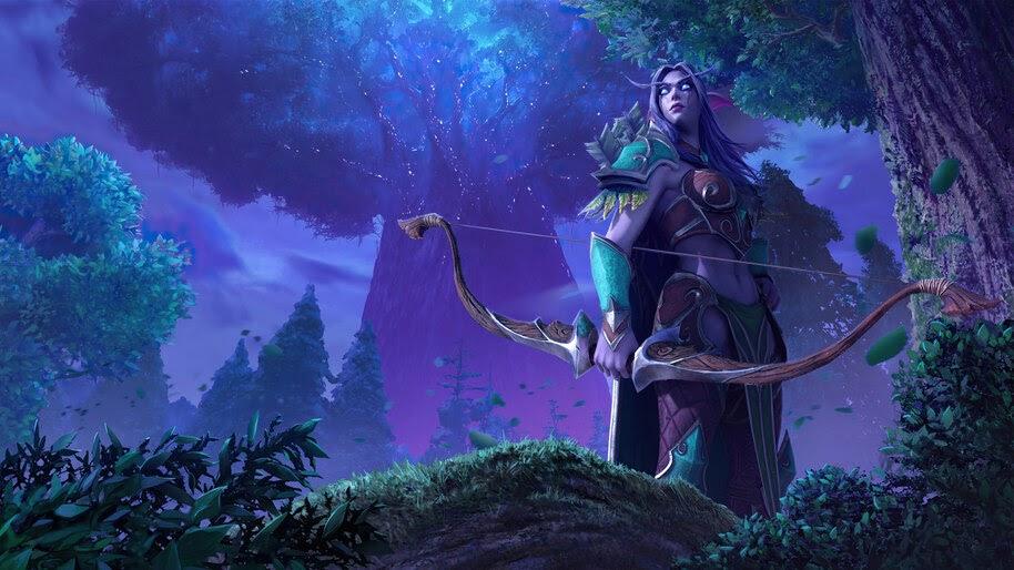 Night Elf, Fantasy, World of Warcraft, 4K, #3.2716