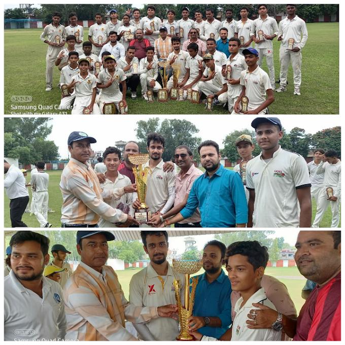 सदभावना कप क्रिकेट प्रतियोगिता : बाधा बनी बारिश, दोनों टीमें विजेता घोषित