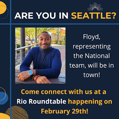 "Graphic shows Rio Rep Floyd Hardin, text reads, ""Come connect with us at a rio roundtable happening on february 29"