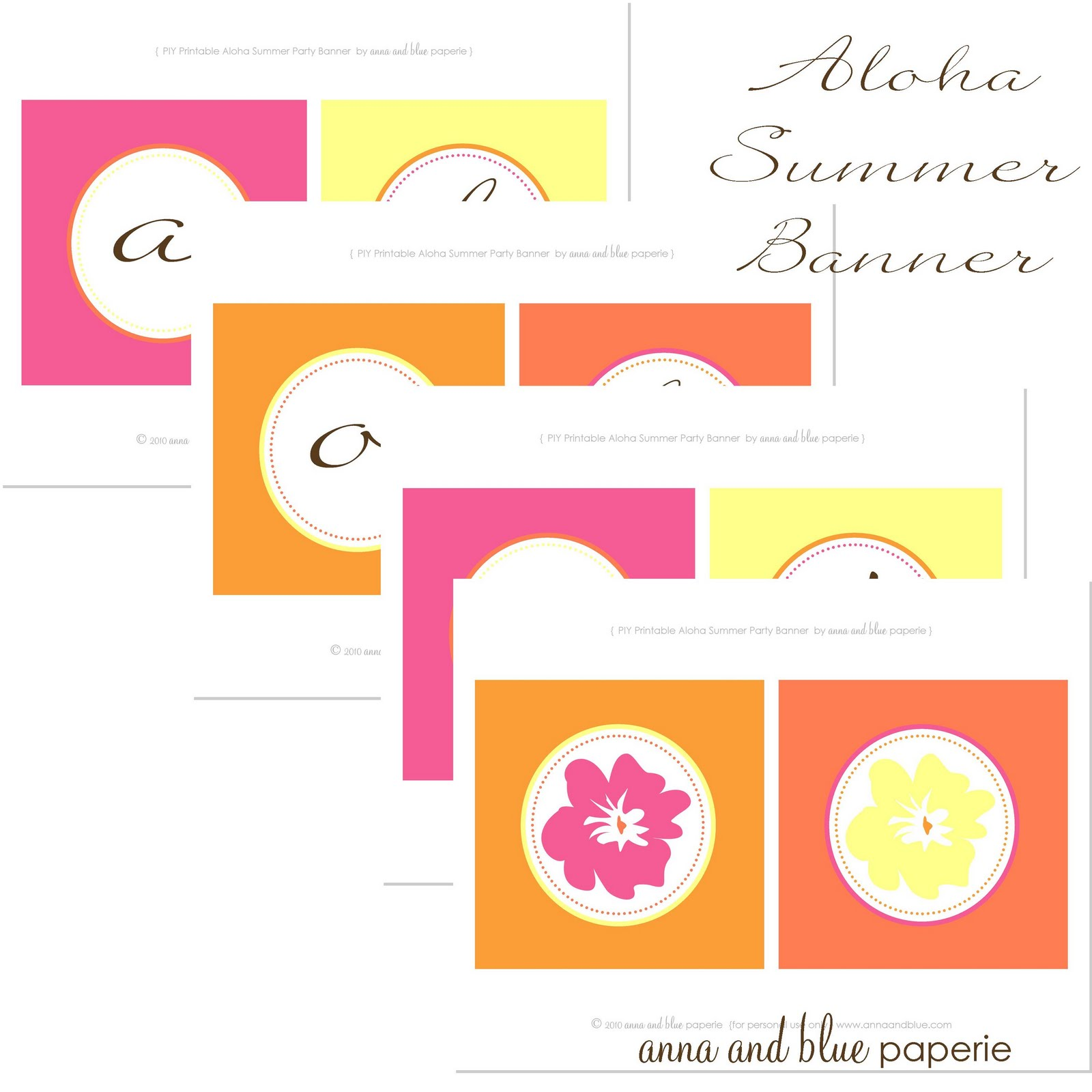 Anna And Blue Paperie Aloha Summer Party Details Amp Free Printable