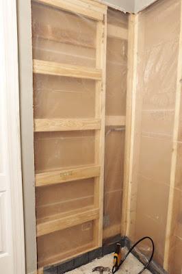 waterproof shower leak plastic drop cloth staple