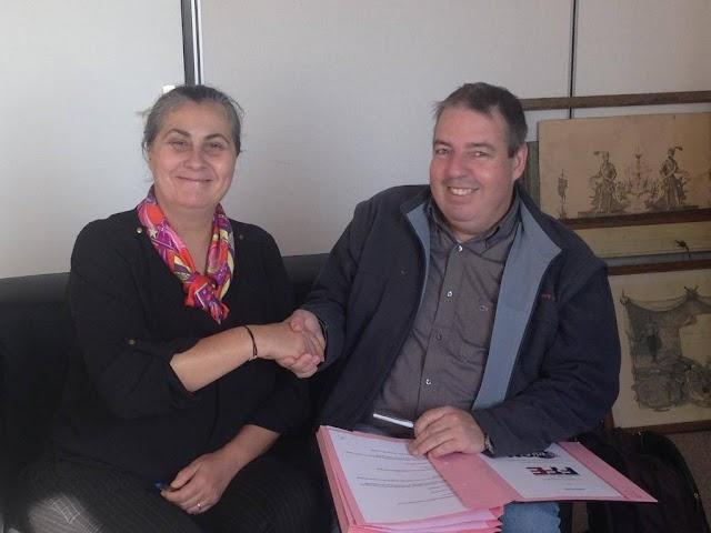 Signature de la Convention de Bagnolet