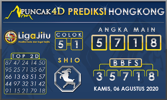 PREDIKSI TOGEL HONGKONG PUNCAK4D 06 AGUSTUS 2020