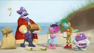 Abby's Flying Fairy School Treasure Hunt, Abby Cadabby, Blögg, Gonnigan, Mrs. Sparklenose, Captain Hook, Sesame Street Episode 4411 Count Tribute season 44