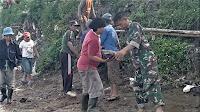 TNI dan Warga Ramai-Ramai Turun ke Sungai, Ternyata Untuk Lakukan Ini...